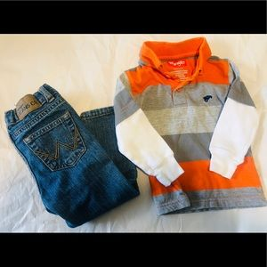 Toddler wrangler outfit 2T